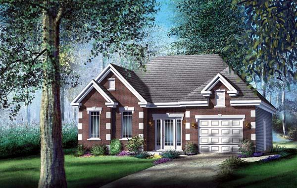 European House Plan 49576 Elevation