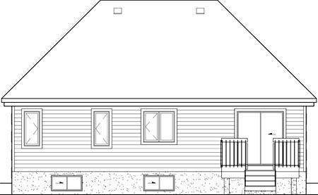 European House Plan 49576 Rear Elevation