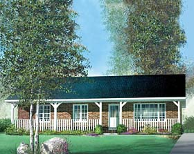 Ranch House Plan 49577 Elevation