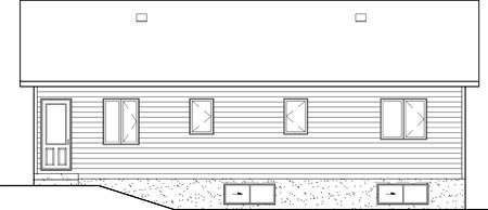 Ranch House Plan 49577 Rear Elevation