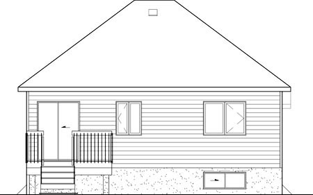 European House Plan 49578 Rear Elevation