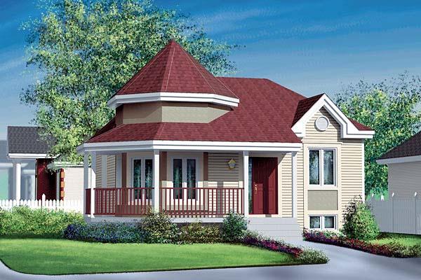 Victorian House Plan 49581 Elevation