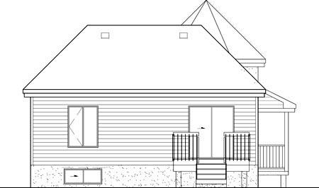 Victorian House Plan 49581 Rear Elevation