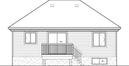 House Plan 49583 Rear Elevation