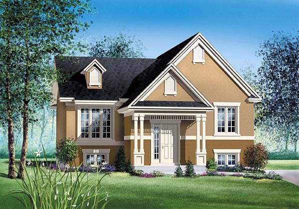 Colonial House Plan 49585 Elevation