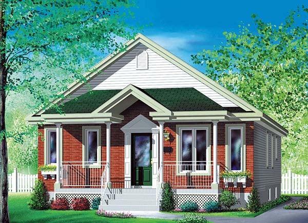 House Plan 49587 Elevation
