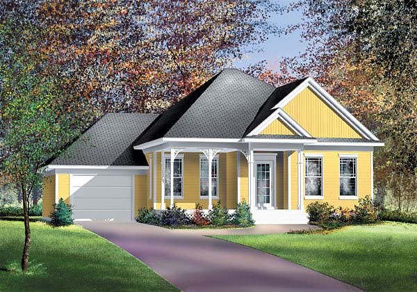 European House Plan 49589 Elevation