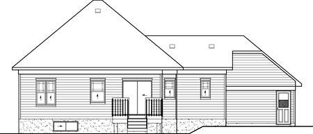 European House Plan 49589 Rear Elevation