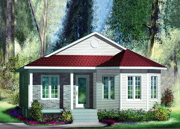 Bungalow House Plan 49590 Elevation