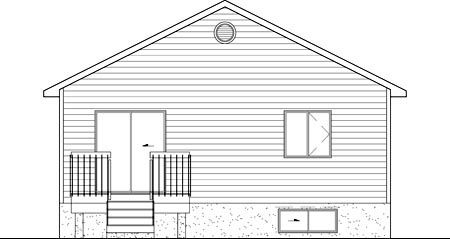 Bungalow House Plan 49590 Rear Elevation