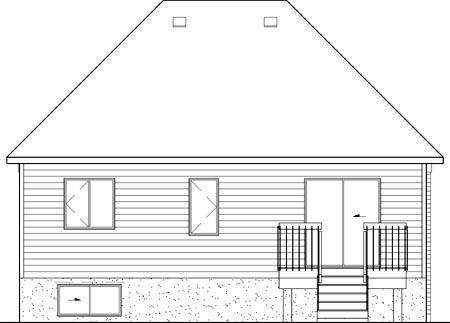Tudor House Plan 49591 Rear Elevation
