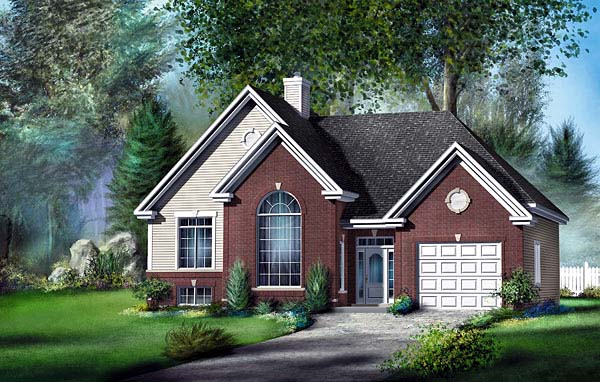 European House Plan 49597 Elevation