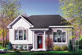 Colonial House Plan 49600 Elevation