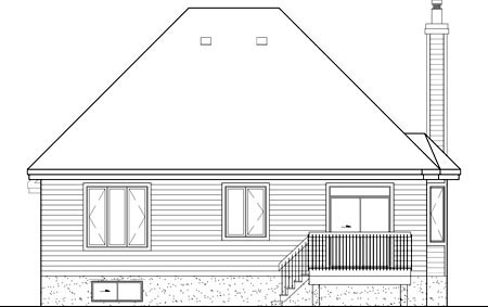 Tudor House Plan 49601 Rear Elevation
