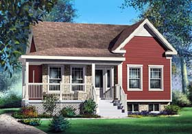 Plan Number 49602 - 911 Square Feet