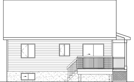 Craftsman House Plan 49602 Rear Elevation