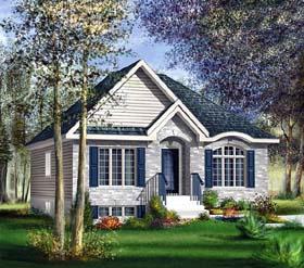 European House Plan 49603 Elevation