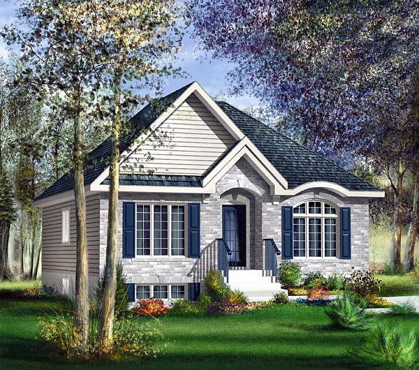European House Plan 49603 Elevation