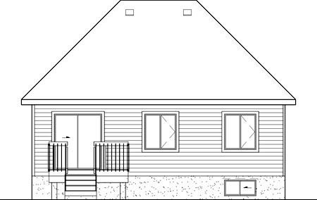 European House Plan 49603 Rear Elevation