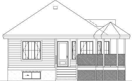 Traditional House Plan 49606 Rear Elevation