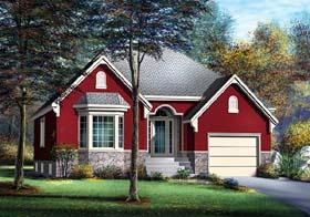 European House Plan 49607 Elevation