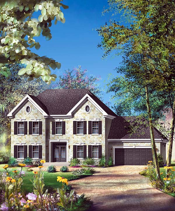 House Plan 49609 Elevation
