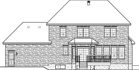 House Plan 49609 Rear Elevation