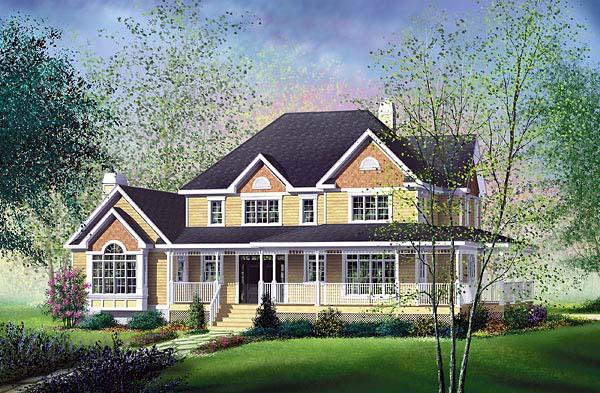 Farmhouse House Plan 49610 Elevation