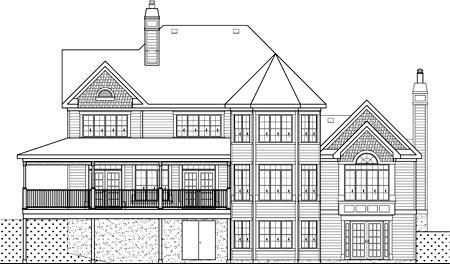 Farmhouse House Plan 49610 Rear Elevation