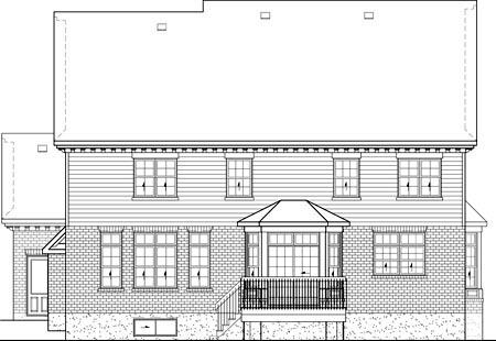 House Plan 49612 Rear Elevation