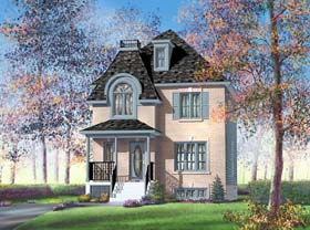 Victorian House Plan 49613 with 3 Beds, 2 Baths Elevation