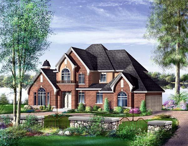 Tudor House Plan 49615 Elevation