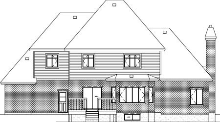 Tudor House Plan 49615 Rear Elevation