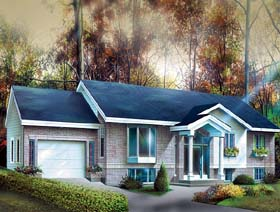 Colonial House Plan 49616 Elevation