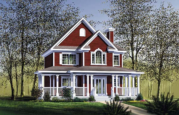 Southern House Plan 49618 with 3 Beds, 2 Baths Elevation