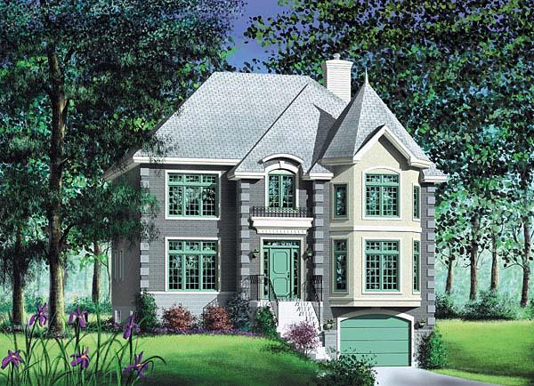 European House Plan 49620 Elevation