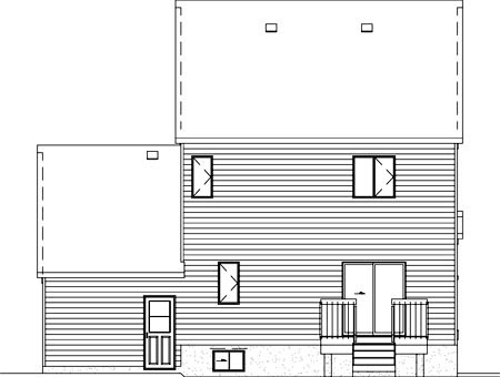 House Plan 49621 Rear Elevation