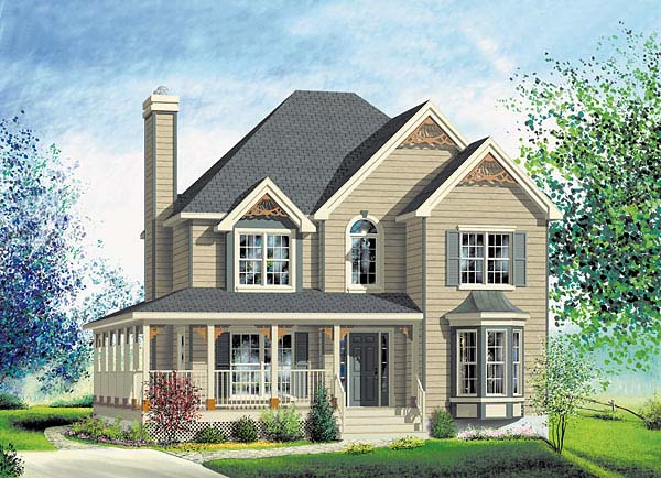 Victorian House Plan 49625 Elevation