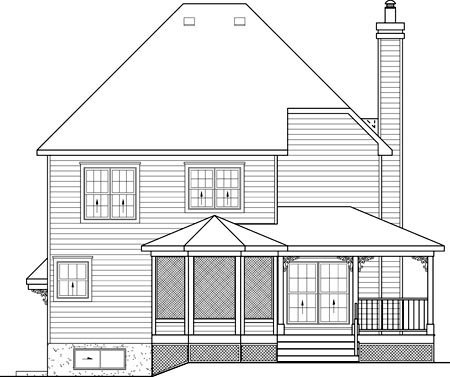 Victorian House Plan 49625 Rear Elevation