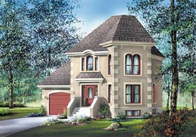 Contemporary European House Plan 49626 Elevation