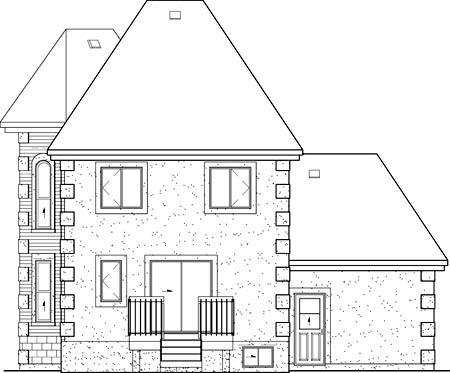 Contemporary European House Plan 49626 Rear Elevation