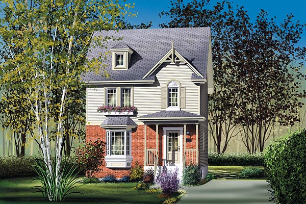 House Plan 49628 Elevation