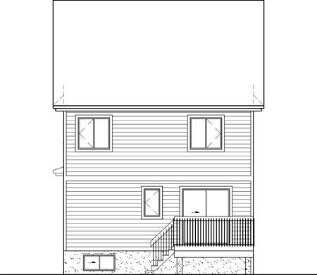 House Plan 49628 Rear Elevation
