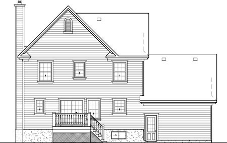 Country House Plan 49632 Rear Elevation