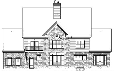 Traditional House Plan 49633 Rear Elevation