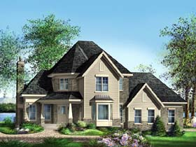 Victorian House Plan 49635 with 3 Beds, 2 Baths, 2 Car Garage Elevation