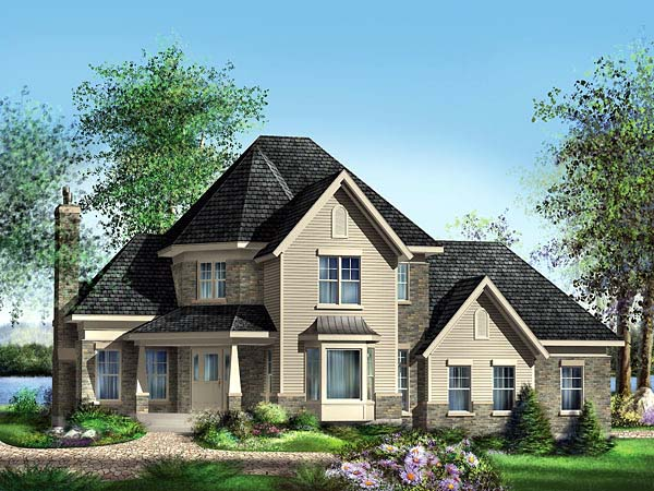 Victorian House Plan 49635 Elevation