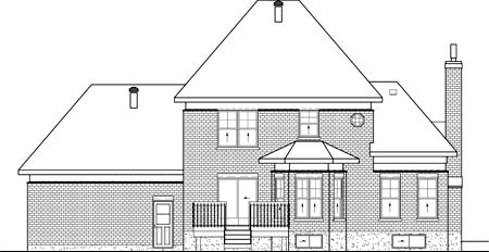 Victorian House Plan 49635 Rear Elevation
