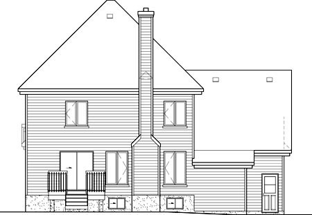 Tudor House Plan 49638 Rear Elevation