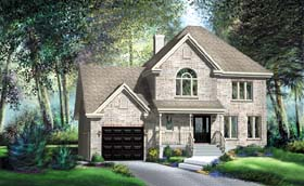 Tudor House Plan 49639 Elevation